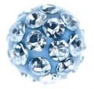 """Серьги """"Шар в стиле диско"""", голубое стекло, в картридже, сталь"""