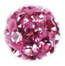 """Серьги """"Шар в стиле диско"""", розовое стекло, в картридже, сталь"""