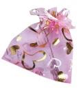 """Мешочек подарочный """"Сердечки"""",  розовый"""
