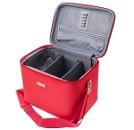 Кейс для парикмахерских инструментов, красный 23х15х18 см