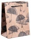 """Пакет крафт """"Зонтики"""", 11 х 14 х 5 см"""