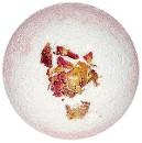 Двухцветный бурлящий шар с лепестками роз, 130 г